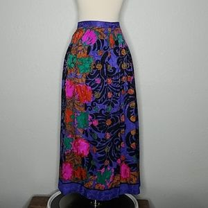 Umi Collection Vintage Silk Pleated Skirt 6